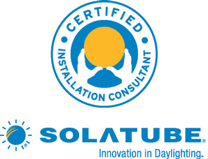Certified Solatube installer in Charleston, SC and NC