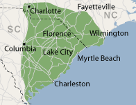 Our South Carolina & North Carolina Service Area